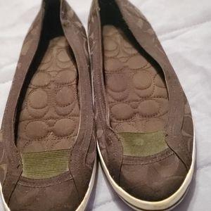 Coach Alpine Slip On Shoes Monogram 7 1/2
